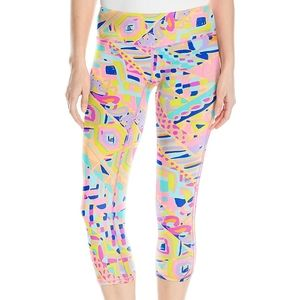 Lilly Pulitzer Luxe Cropped Legging Plantain Party